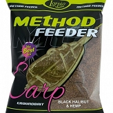 Zanęta Lorpio Method Feeder Black Halibut&Hemp NOWOŚĆ